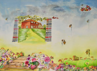 Happy paintings,Dream Garden painting,surrealistic paintings